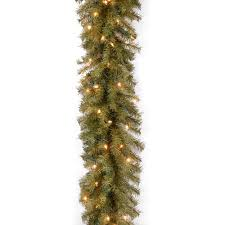 national tree pre lit 9 x 10 norwood fir garland with 50 clear