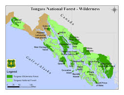 Petersburg Alaska Map by Tongass National Forest Special Places