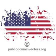 usa flag in paint splatter at vectorportal