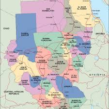 Map Of Sudan Sudan Political Map Vector Eps Maps Eps Illustrator Map Our
