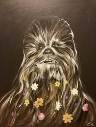affenpinscher star wars mashup paintings portraying the u0027star wars u0027 wookiee chewbacca as