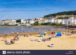 british seaside beach uk marine lake beach at weston super mare