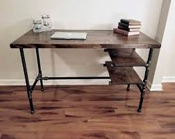 pipe desk with shelves pipe desk etsy