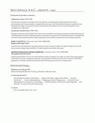 Continuing Education On Resume Nurse Resume Examples For Registered Rn Within Good Objective