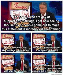 Chick Fil A Meme - john stewart on the chick fil a gay marriage controversy weknowmemes