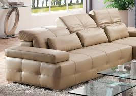 a sectional sofa in light brown leather by pantek