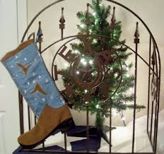 Cowhide Christmas Stockings Cowboy Christmas Stockings For Your Texas And Western Christmas