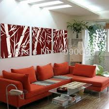 Hand Painted Abstract Bamboo For Decorating Oil Paintings Modern