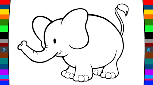 animal coloring pages how to draw a elephant drawing and