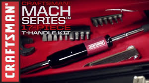 craftsman craftsman mach series 17 piece t handle driver and bit set youtube