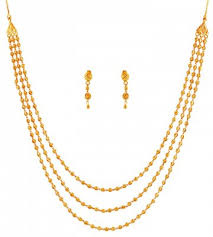 layered necklace chain images Exclusive layered gold necklace set stls17739 22k gold layered jpg