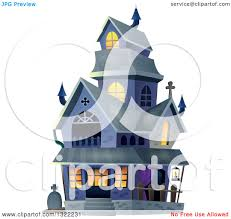 haunted mansion clipart clipart of a haunted halloween house royalty free vector