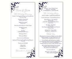 wedding programs template free wedding program template diy editable word file instant