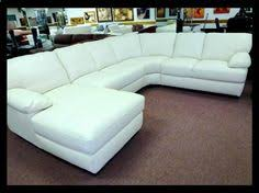 White Leather Sofa Sectional Denver White Leather Sectional With Chaise By Natuzzi Of