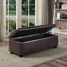Black Ottoman Storage Bench Bench Storage Bench Leather Faux Leather Folding Pc Ott Set Or