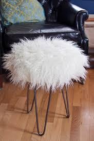 Pouf Ottoman Insert Ottomans Faux Fur Dressing Table Stool Mongolian Stool Diy