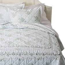 Shabby Chic Twin Quilt by Amazon Com Simply Shabby Chic Wallpaper Ikat Ruffle Quilt Light