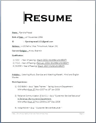 basic resume format word format of a resume for a job tomyumtumweb com