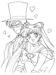 digital art gallery sailor moon coloring pages at children books
