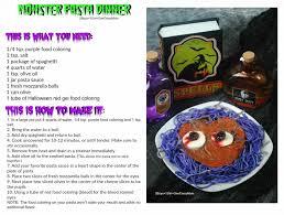 Halloween Monster Bash by Halloween Monster Bash Pasta Dinner Idea For The Kids