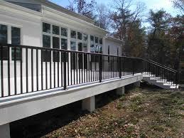 contemporary deck railings and step rails in williamsburg virginia
