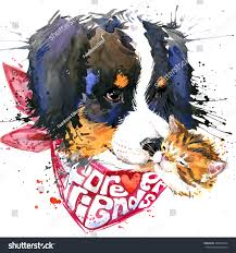 t shirt australian shepherd dog companion tshirt watercolor graphics forever stock