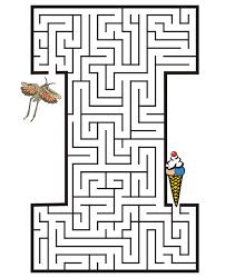 free printable maze for kids uppercase letter i