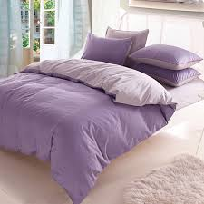 Cheap Purple Bedding Sets 3 4pcs Cotton Light Purple Grey Assorted Bedding Sets Plain