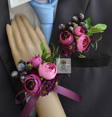 wrist corsage supplies handmade wedding corsage groom boutonniere bridesmaid women