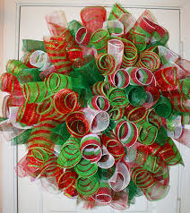 mesh wreaths christmas deco poly mesh spiral wreath by