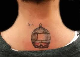 Tattoo Ideas For The Back Of Your Neck 47 Delightful Bird Cage Tattoos That Will Absolutely Make Your Day