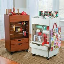 how to store wrapping paper and gift bags organized gift wrapping station the home depot gift wrap station