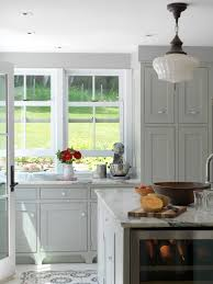 Grey Cabinets In Kitchen Grey Painted Cabinets Houzz