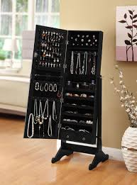 standing mirror jewelry cabinet top jewelry armoire black options jewelry reviews world