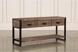 Sofa Table With Drawers Prescott Sofa Table Living Spaces
