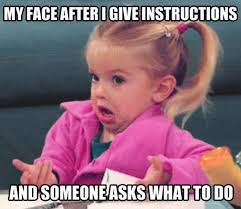 My Face Meme - my face after i give instructions and then 9buz