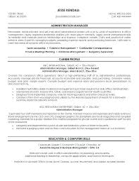 it services manager resume sles of resumes for administrative