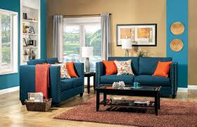 blue couch living room 2 pcs turquoise blue sofa set