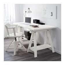 ikea bureau treteau gerton alex table beech black white solid wood large desk