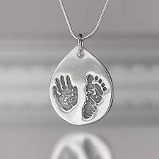 footprint necklace personalized personalised and footprint necklace by touch on silver