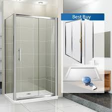Bathroom Shower Trays by Aquaspa Deluxe 1200 X 760 Mm Sliding Shower Enclosure Bundle