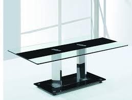 plateau verre trempé bureau table basse plateau verre trempé noir et transparent wina