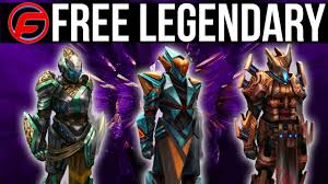 destiny how to get free legendary weapons free legendary armor