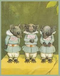 The Blind Mice Vintage Three Blind Mice Mother Goose Nursery Illustration