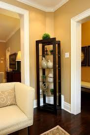 Modern Corner Curio Cabinet Corner Curio Cabinet In Family Room Contemporary With Awkward