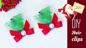 christmas hair accessories how to make christmas hair diy hair accessories