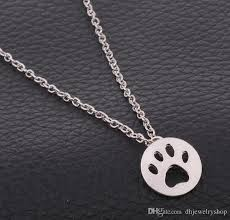 Tiny Paw Print Wholesale Fashion Lovely Tiny Paw Print Necklace 925 Sterling