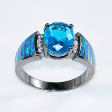 blue opal blue fancy opal engagement rings ksvhs jewellery
