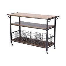 clint wood u0026 metal kitchen cart dotandbo com the kitchen