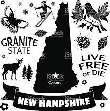 New Hampshire State Map by New Hampshire Map And Icons Stock Vector Art 166055630 Istock